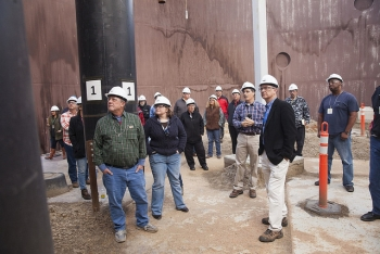 EM SSAB Members Touring Cleanup