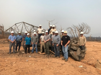 Picture of WAPA crew that has helped restore power following the Carr fire