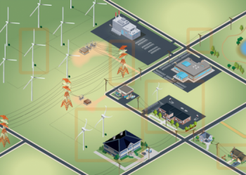 Screenshot of the distributed wind animation.