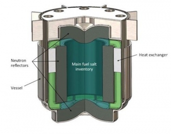Crosssection of the molten chloride fast reactor by Southern and TerraPower.