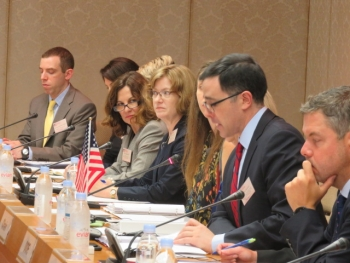 NSWG Co-Chair Tim Morrison, second from the right, addresses the U.S.-Japan Nuclear Security Working Group. He is Special Assistant to the President and Senior Director for WMD and Biodefense.
