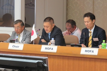 Director Fumito Miyake, Nuclear Security Working Group Co-Chair, makesopening remarks at the ninth group meeting in Tokyo.