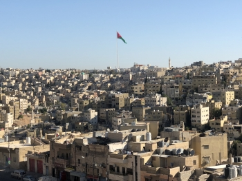 Amman, Jordan, with a population of about 4 million people, stores precious water supplies on rooftops.