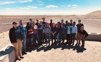 Interns from the Richland Operations Office and Office of River Protection visit the Environmental Restoration Disposal Facility, the Hanford Site's engineered landfill, during their July tour.
