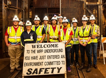 Summer interns took a trip 2,150 feet underground at the Waste Isolation Pilot Plant.