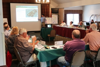 Dave Adler presents to ORSSAB board members during the 2018 Annual Planning Meeting on Aug. 25