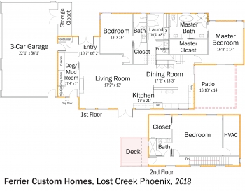 DOE Tour of Zero: Lost Creek Phoenix by Ferrier Custom Homes floorplans.