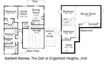 DOE Tour of Zero: The Dali at Englefield Heights (production) by Garbett Homes floorplans.