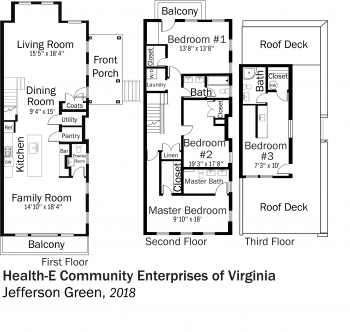 DOE Tour of Zero: Jefferson Green by Health-E Community Enterprises of Virginia floorplans.