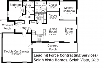 DOE Tour of Zero: Selah Vista by Leading Force Contracting Services / Selah Vista Homes floorplans.