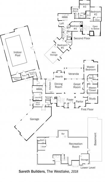 DOE Tour of Zero: The Westlake by Sareth Builders floorplans.