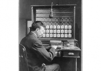 Herman Hollerith and his electronic tabulating machine