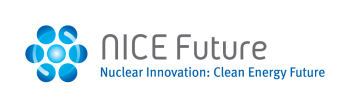 Text with a circle logo that says NICE Future initiative