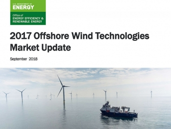 Cover of the 2017 Offshore Wind Technologies Market Update, updated September 2018.