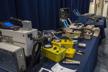Hand-held radiological search equipment displays at the RAP 60 event.