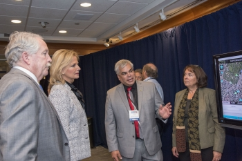 NNSA Administrator Lisa E. Gordon-Hagerty and James F. McDonnell, Assistant Secretary for Countering Weapons of Mass Destruction for the Department of Homeland Security, interact with RAP team members and exhibits.