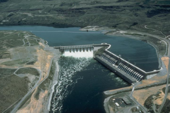 Pictured above is the Chief Joseph Dam, which is owned and operated by the U.S. Army Corps of Engineers with hydropower marketed through Bonneville Power Administration.