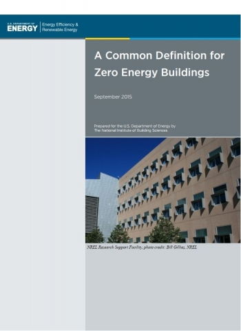 Cover image of A Common Definition for ZEB