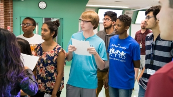 These students learned ways to interpret and visualize data at Argonne over the summer.