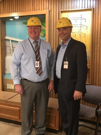SWPA Administrator Wech and Assistant Secretary Walker at the Keystone Dam
