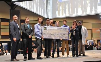 The winning team of the STEM Scholarship Competition was from Kiona-Benton High School of Benton City, Washington.