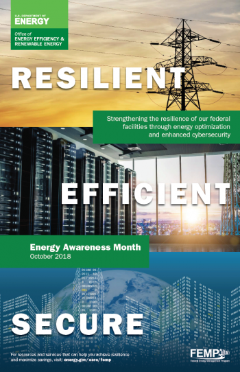 Screenshot of the Energy Awareness Month poster for October 2018.