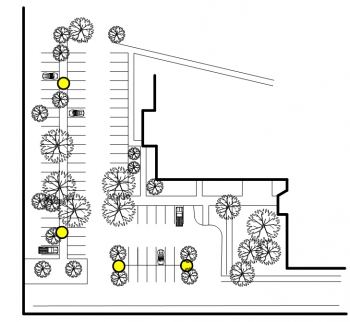 Rendering of a parking lot.