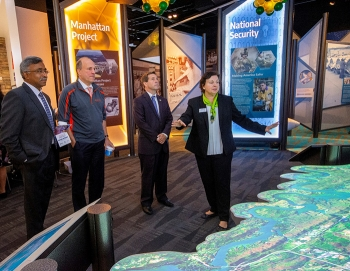 Officials tour the new American Museum of Science and Energy facility