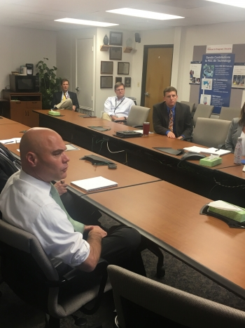 Photo of Assistant Secretary Bruce J. Walker Meeting with Sandia National Lab Personnel