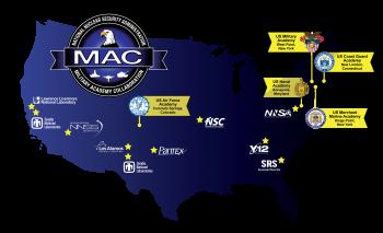 NNSA's Military Academy Collaboration map