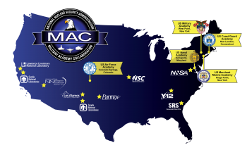 NNSA's Military Academy Collaboration map