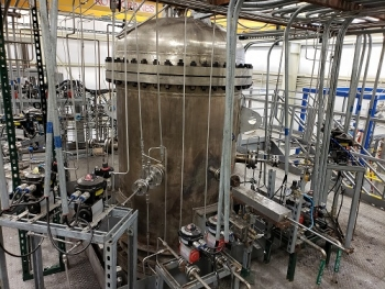Image of small-scale opposed multi-burner coal gasifier at the University of Kentucky
