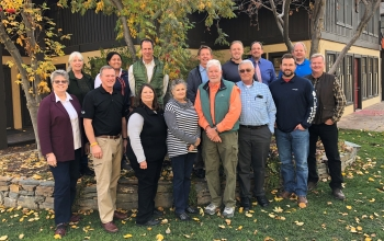 ICP CAB members and DOE officials gather for a meeting in Sun Valley, Idaho, October 2018