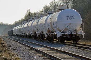 Railcars await shipments scheduled to depart the Paducah Site where extensive repairs and maintenance ensure continued rail availability.