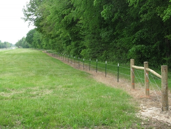 One section of the miles of new boundary fence at the Paducah Site.