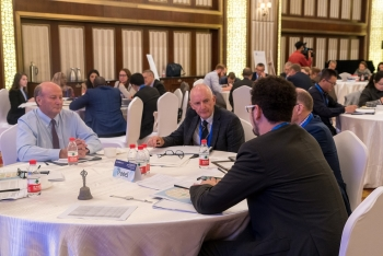 On the second day of the workshop, experts from Argentina, Australia, the U.S., and the IAEA discuss elements of the simulated scenario and how to employ skills gained during the event.