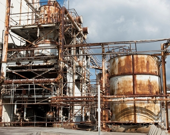Last used in the 1960s, the mercury-contaminated West Column Exchange equipment became rusted and structurally degraded over the year.