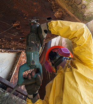 Crews retrieved nearly 6,500 pounds of mercury from the West Column Exchange pipes and equipment before demolition.