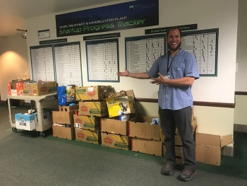 Benjamin Crock served as a team lead for the Office of River Protection's (ORP) Feds Feed Families campaign