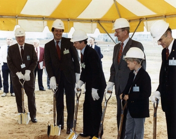 The Defense Waste Processing Facility groundbreaking in 1983.