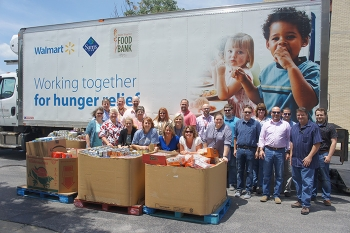 Loading food donations at PPPO's Lexington, Kentucky office.