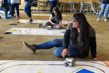 Local students participate in STEM activities during the Dream Catchers Science Program.