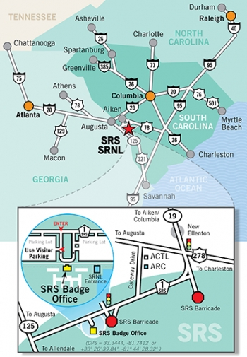 Savannah River Site geographic location map