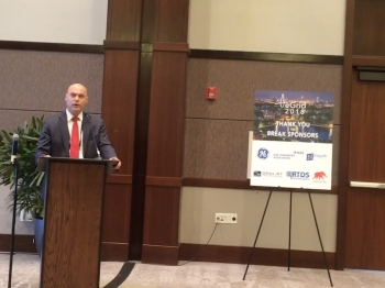 Photo of Assistant Secretary Bruce J. Walker at the IEEE e-Grid Conference