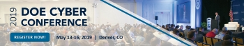 2019 DOE Cyber Conference Banner with link to registration