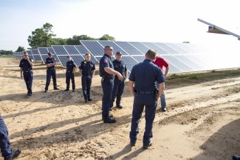 First responders receive solar energy training