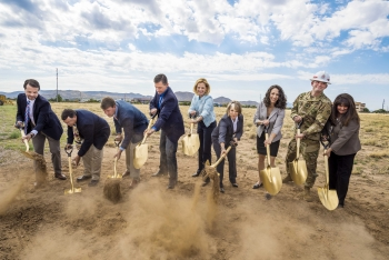 Groundbreaking for the NNSA Albuquerque Complex in July 2018