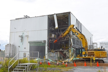Crews began tearing down the K-1232 Chemical Recovery Facility in October 2018.