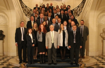 U.S. Ambassador to Argentina Edward C. Prado welcomed participants to the Embassy Residence on the opening night of the National Safeguards Inspections Regional Workshop in Buenos Aires in June 2018.