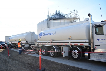 WTP recently filled a diesel fuel oil storage tank with nearly 300,000 gallons of fuel.